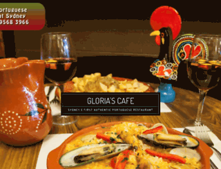 gloriascafe.com.au screenshot
