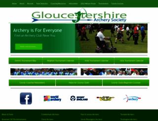 glosarchery.co.uk screenshot