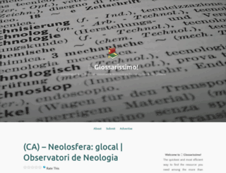 glossarissimo.wordpress.com screenshot