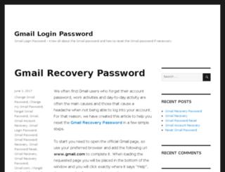 gmailloginpassword.org screenshot