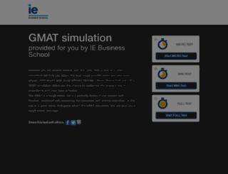gmat.ie.edu screenshot