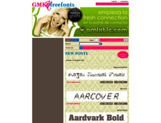gmkfreefonts.com screenshot