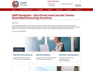 gmp-navigator.com screenshot