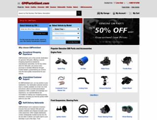 gmpartsgiant.com screenshot