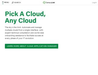 go.centurylinkcloud.com screenshot
