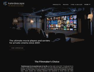 go.kaleidescape.com screenshot