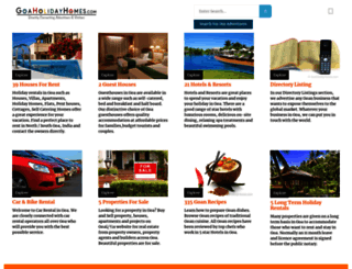goaholidayhomes.com screenshot