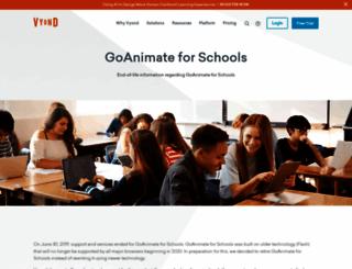 goanimate4schools.com screenshot
