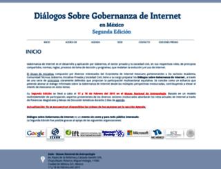 gobernanzadeinternet.mx screenshot