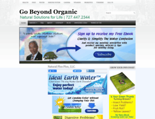 gobeyondorganic.com screenshot
