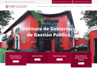 gobiernoygestionpublica.edu.pe screenshot
