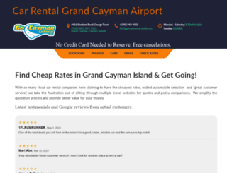 gocaymancarrental.com screenshot