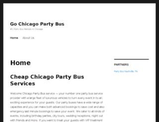 gochicagopartybus.com screenshot