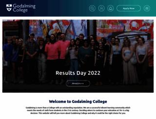 godalming.ac.uk screenshot
