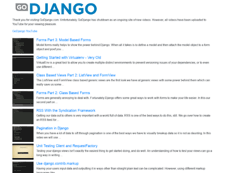 godjango.com screenshot