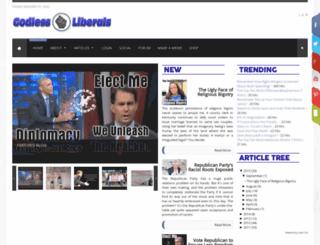 godlessliberals.com screenshot