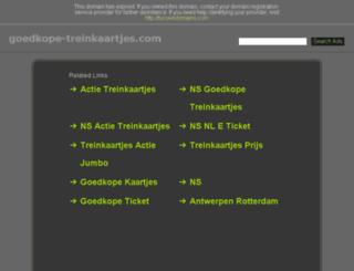 goedkope-treinkaartjes.com screenshot