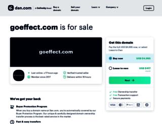 goeffect.com screenshot