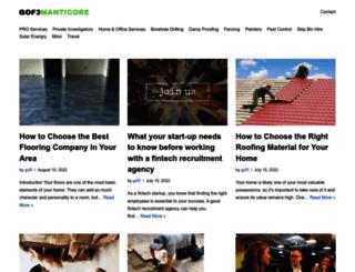 gof3manticore.com screenshot