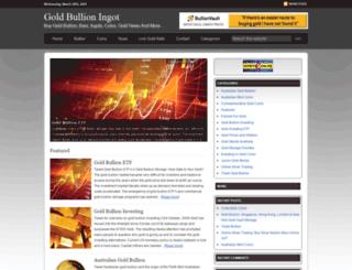 goldbullioningot.com screenshot