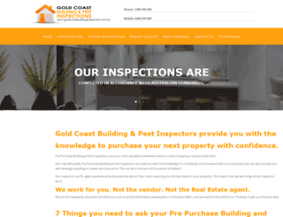 goldcoastbuildinginspectors.com.au screenshot
