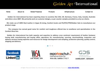 goldenarcinternational.com screenshot