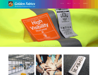 goldenfabtex.co.in screenshot