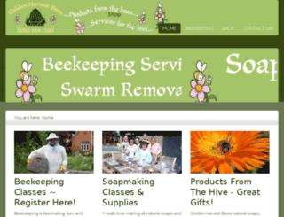 goldenharvestbees.com screenshot