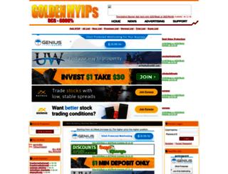Access goldenhyips com  GOLDEN HYIPS - BEST HYIP MONITOR - ONLINE
