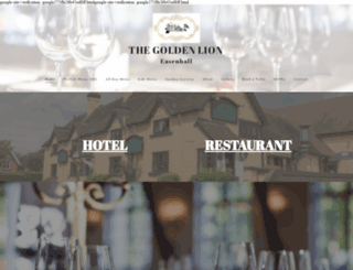 goldenlionhotel.org screenshot