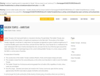 goldentempleamritsar.co.uk screenshot