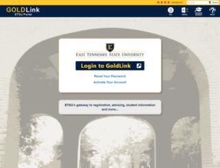 goldlink.etsu.edu screenshot