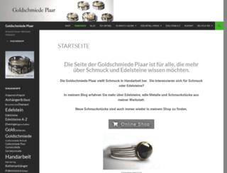 goldschmiede-plaar.de screenshot