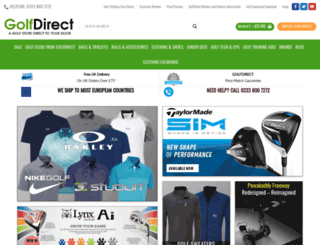 golf-direct.co.uk screenshot