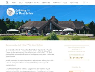 golf-hotel-mont-griffon.fr screenshot