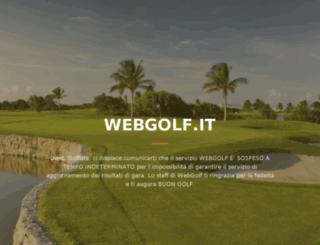 golf.webgolf.it screenshot