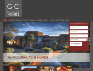 golfcountryhomes.com screenshot