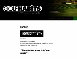 golfhabits.com screenshot