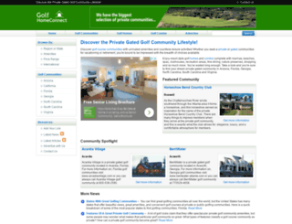 golfhomeconnect.com screenshot