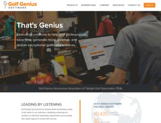 golfleaguegenius.com screenshot