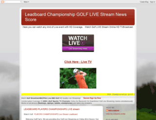 golflivetvstreamingpga.blogspot.com screenshot