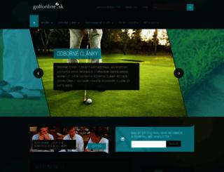 golfonline.sk screenshot