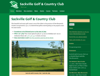 golfsackville.com screenshot