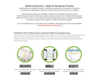 golfscoretracker.co.uk screenshot