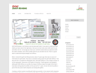 golfshaftreviews.info screenshot