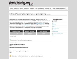 golfswingtiming.com.websitevaluespy.com screenshot