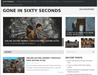 goneinsixtyseconds.info screenshot