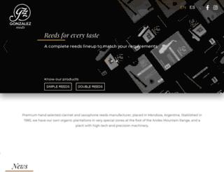 gonzalezreeds.com screenshot