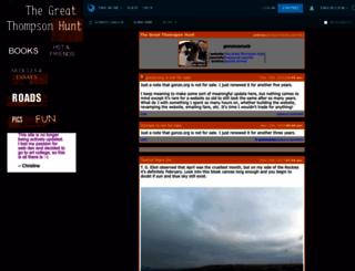 gonzo.org screenshot