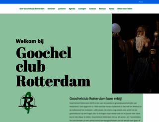 goochelclubrotterdam.nl screenshot